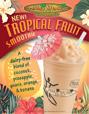 Maui Wowi launches its new dairy-free menu item – Tropical Fruit Smoothie, available for a limited time only.