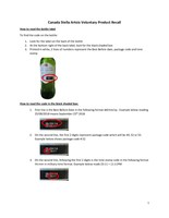 Canada Stella Artois Voluntary Product Recall