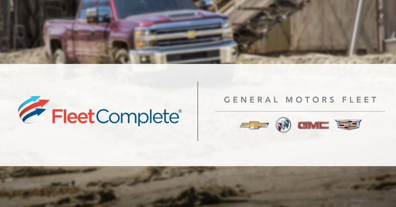 GM and Fleet Complete collaborate on a fully-integrated, web-based fleet management solution in a variety of OnStar-equipped GM vehicles (CNW Group/Fleet Complete)