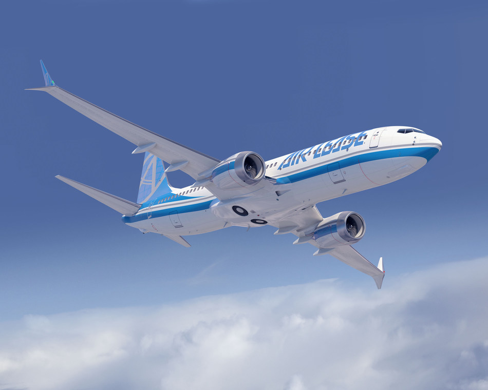 Boeing [NYSE:BA] and Air Lease Corporation (NYSE: AL) (ALC) announced they have finalized an order for eight more 737 MAX 8 airplanes, valued at $936.8 million at list prices. The airplane is seen here in an artist's rendering. (Boeing illustration)