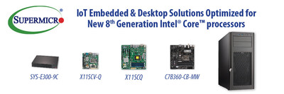 Supermicro adds new IoT Embedded and Desktop platforms for 8th Gen Intel Core processors