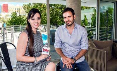 El empresario Diego Colmenero de Urbanica Hotel es entrevistado por la periodista Nancy Clara de InfoNegocios – MiamiTV