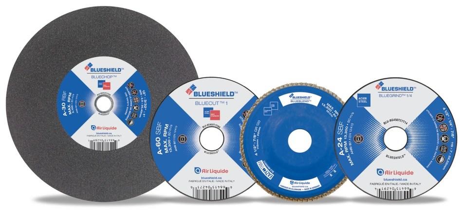 The new BLUESHIELD™ Abrasives from Air Liquide Canada (CNW Group/Air Liquide Canada)