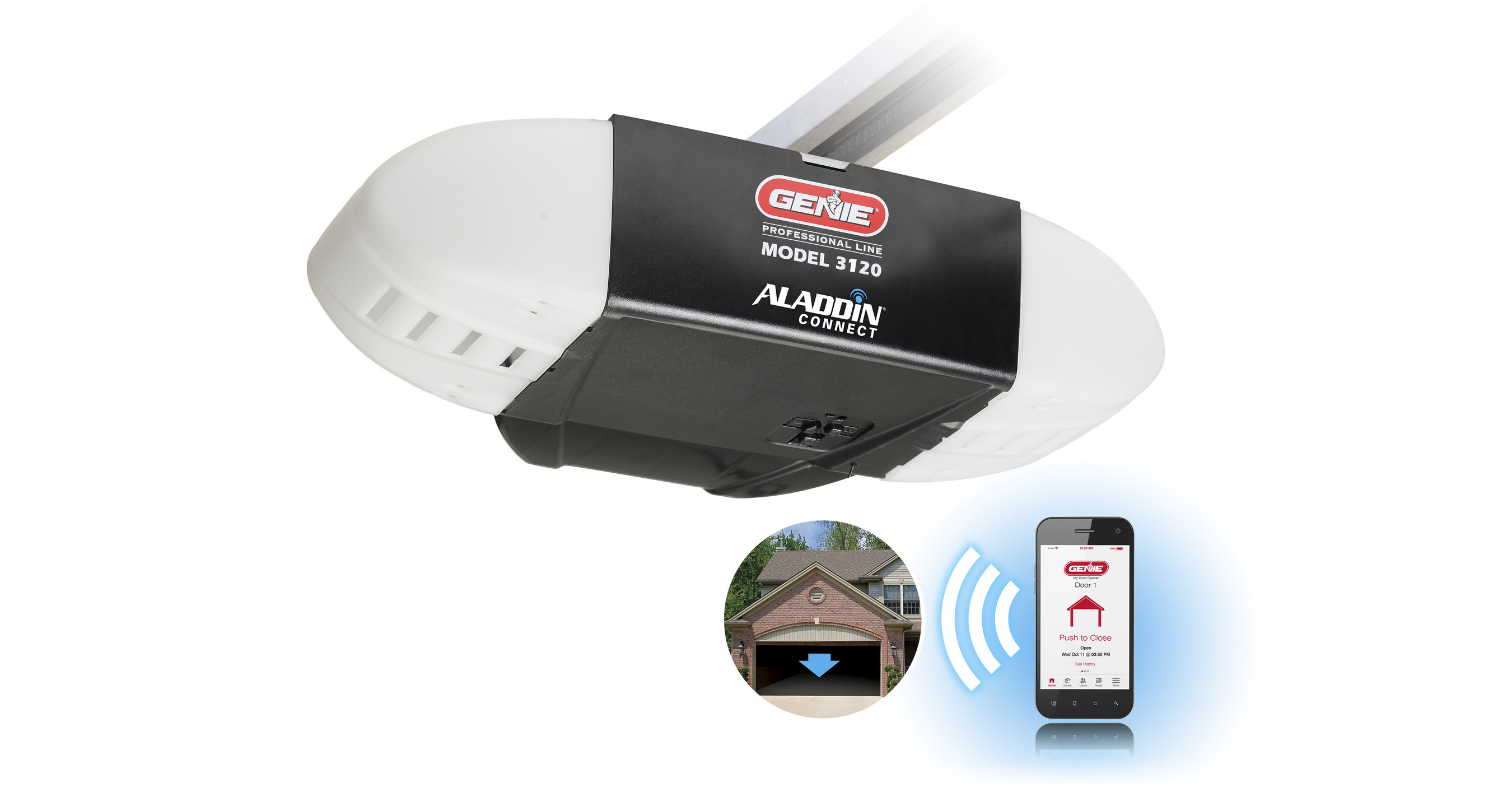 the genie company announces new garage door opener with integrated aladdin  connect®