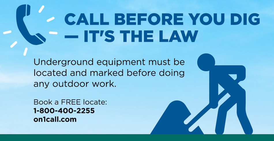 April is Dig Safe Month. (CNW Group/Toronto Hydro Corporation)