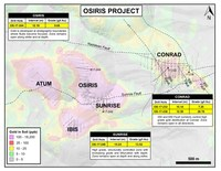 Osiris Plan Map with Gold in Soil (CNW Group/ATAC Resources Ltd.)