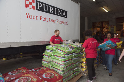 In 2017, Purina donated more than 13 million pounds of pet food and cat litter to pet shelters and rescues across the U.S.