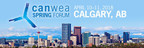 The Canadian Wind Energy Association (CanWEA) invites members of the media to attend the CanWEA Spring Forum on April 10 and 11, 2018 at the Westin Calgary. (CNW Group/Canadian Wind Energy Association)