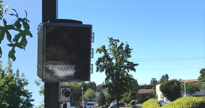 A V5 Portable License Plate Reader (V5 PSU-LPR) deployed in a neighborhood