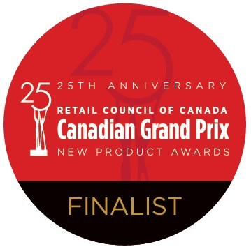 25th Anniversary Canadian Grand Prix New Product Finalist logo (CNW Group/Retail Council of Canada)