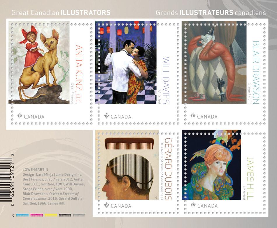 Great Canadian Illustrators / Grands Illustrateurs canadiens (CNW Group/Canada Post)