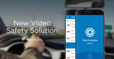 The new video analytics solution by Fleet Complete allows to visually capture events for a variety of business purposes. (CNW Group/Fleet Complete)