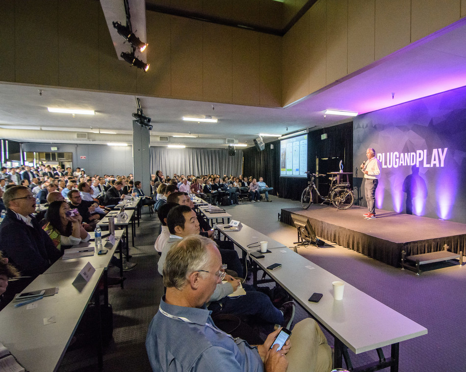 Plug and Play's Summer Summit in June 2018 will give startups the chance to pitch on stage to a room full of corporations and investors.