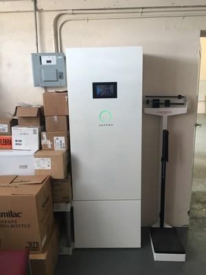 El sistema de almacenamiento inteligente de energía de sonnen permite que la Clínica Comunitaria de Utuado brinde atención médica urgente a una comunidad remota en Puerto Rico. (PRNewsfoto/sonnen)