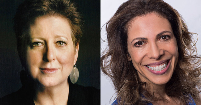 Babson College 2018 Commencement speakers President and CEO of UNICEF USA, Caryl M. Stern, and Co-Founder and CEO of Endeavor, Linda Rottenberg