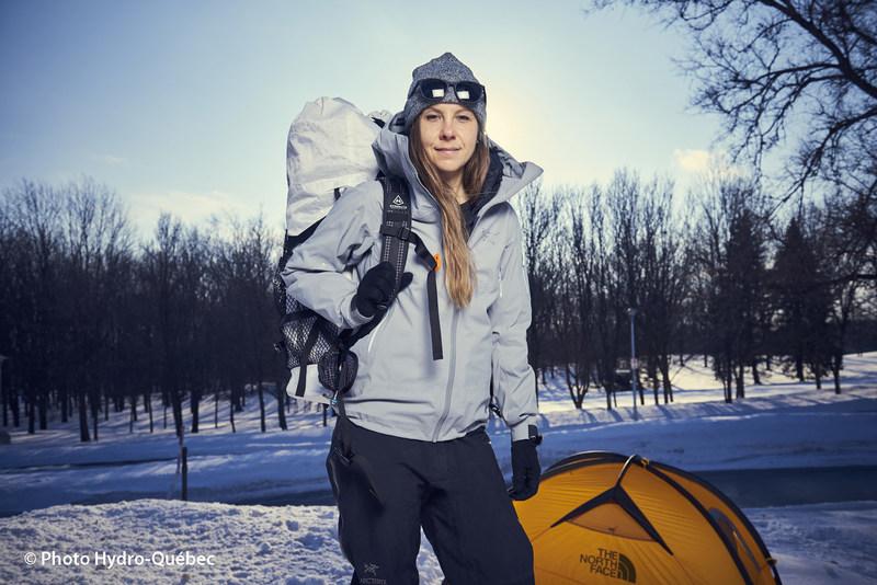 The électrON expedition features adventure filmmaker Caroline Côté (CNW Group/Hydro-Québec)