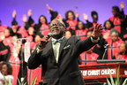 Pastor Rush preaches to the Inspiring Body of Christ Church, a 15,000 member megachurch in Dallas, TX