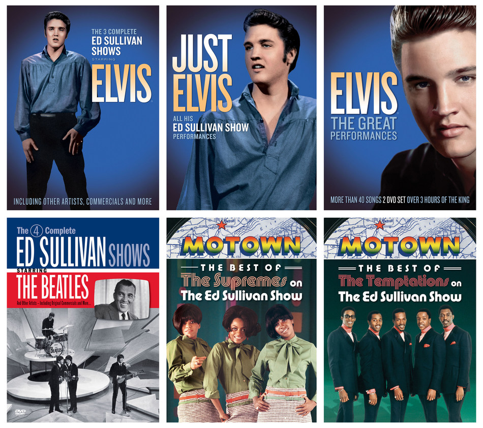 "On May 25, SOFA Entertainment/UMe will release three DVD collections honoring Elvis Presley's legacy on ""The Ed Sullivan Show"" and beyond its stage. In addition, three popular, previously released DVD collections featuring The Beatles, The Supremes and The Temptations electrifying performances on the legendary show will be released in newly upgraded high definition video."