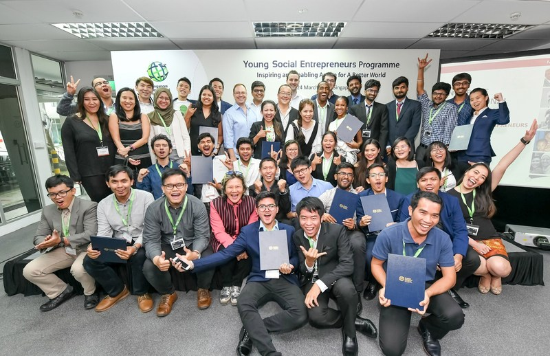 All 16 shortlisted teams from eight countries and territories will continue the next phase of their YSE journey for the next eight months. (PRNewsfoto/Singapore Int'l Foundation)