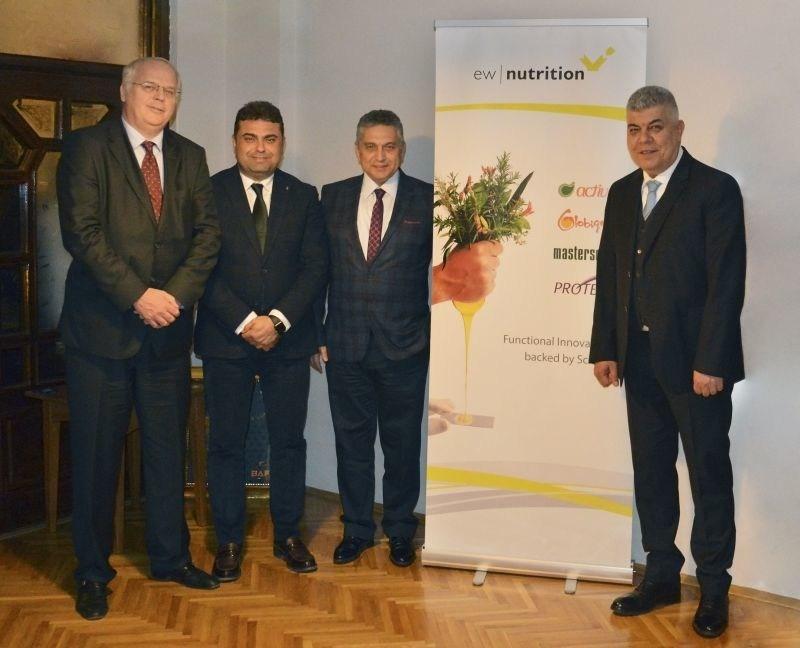 From left to right: Michael Gerrits, Fatih Ates, Ufuk Yilmaz, and Ziya Pazarbasilar (PRNewsfoto/EW Nutrition GmbH)