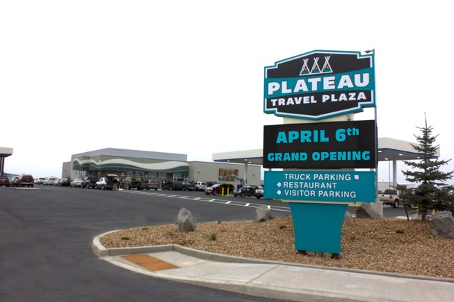 Plateau Travel Plaza Opens Today, April 6, in Madras OR. Located in the Jefferson County Industrial Park right off US-26 at NW Cherry Lane, it's the newest and largest full service truck and travel stop within 120 miles.
