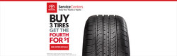 Bangor-area drivers in need of new tires can save on high-quality, name brand tires at Downeast Toyota during the April spring tire sale that allows consumers to buy three tires at regular price and purchase the fourth tire for just $1.