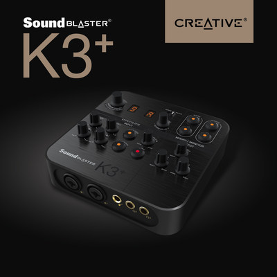 The Sound Blaster K3+ is portable and powerful.