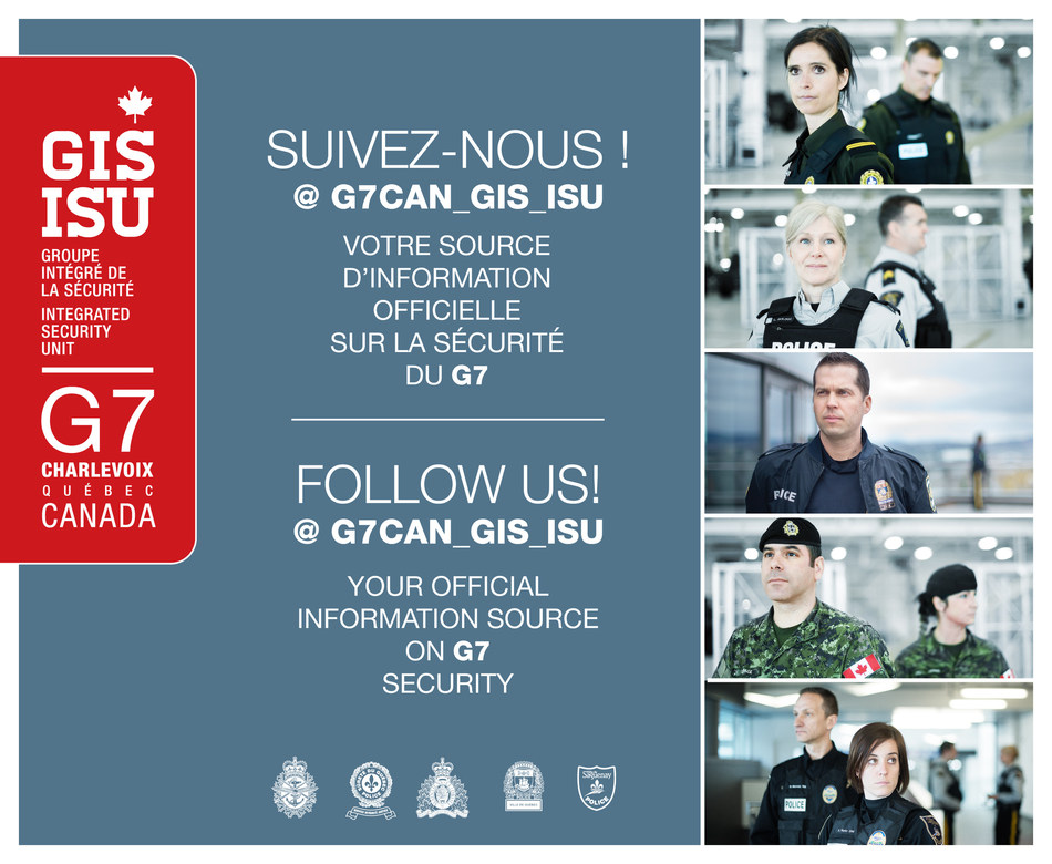 G7 Integrated Security Unit Twitter account (CNW Group/Royal Canadian Mounted Police)