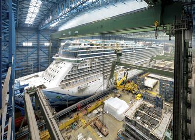 The new cruise ship Norwegian Bliss