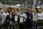 Francisco Ayón (center), Education Minister of Jalisco, Holds the Guinness Record
