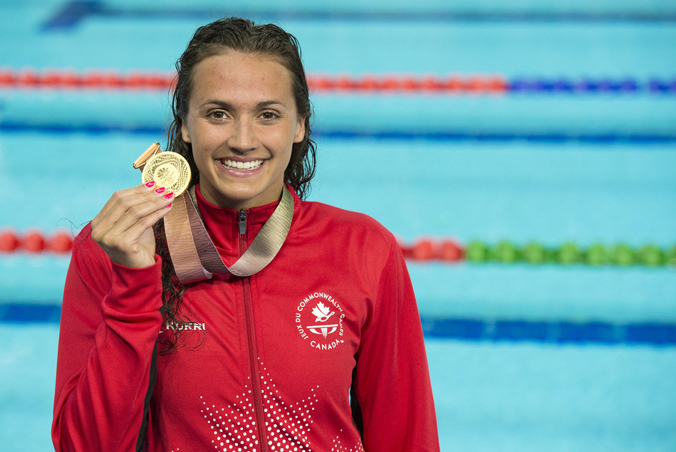 Canadian Swimmer Kylie Masse wins gold today in 200m backstroke at 2018 Commonwealth Games in Gold Coast, Australia (CNW Group/Commonwealth Games Association of Canada)