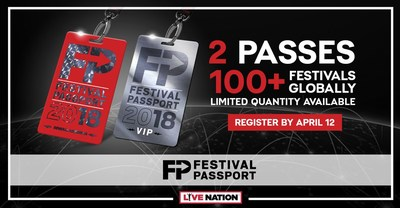 Live Nation Expands Festival Passport For 2018 With Brand New VIP Tier And Access To 100+ Festivals Globally