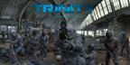 TRINITY est une expérience immersive interactive, tournée en 360 avec des effets spéciaux haut de gamme. Dans un futur où les humains ont disparu, les derniers androïdes survivants mènent une dernière guerre pour la liberté contre une Singularité toute puissante... (Groupe CNW/UNLTD)