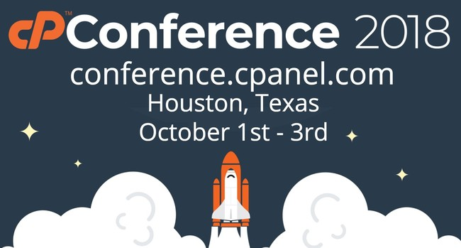conference.cpanel.com, Houston, Texas, October 1st - 3rd, 2018