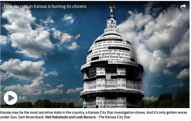"The Kansas City Star's ""Why So Secret Kansas?"" among 12 winners of McClatchy's President's Awards for outstanding journalism"