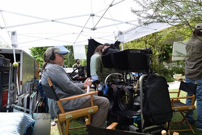 Director Jerry Alden Deal on set of One Hand Clapping in Austin, TX