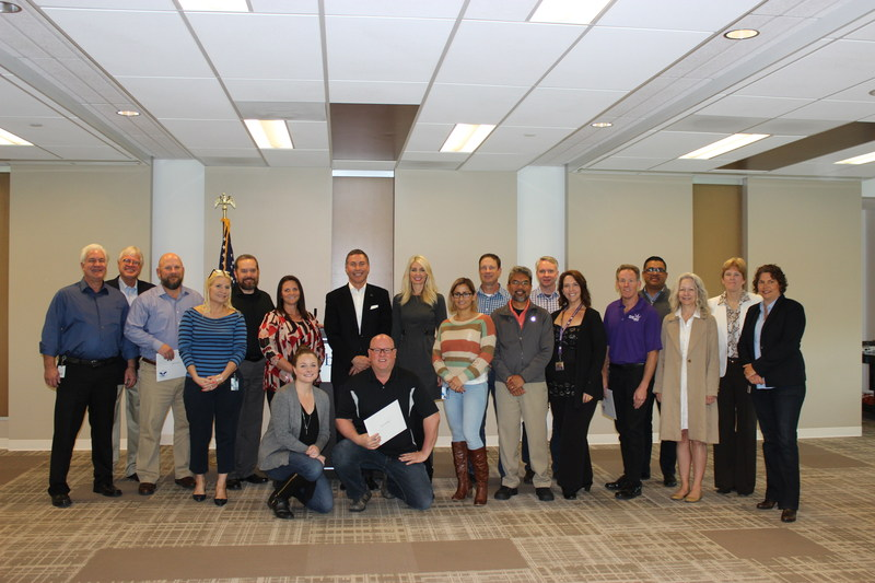 San Diego recipients of the President's Volunteer Service Award with Bridgepoint Education CEO Andrew Clark