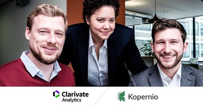 From right to left: Jan Reichelt (Managing Director, Web of Science and President, Kopernio), Annette Thomas (CEO, Scientific and Academic Research), and Ben Kaube (Managing Director, Kopernio)