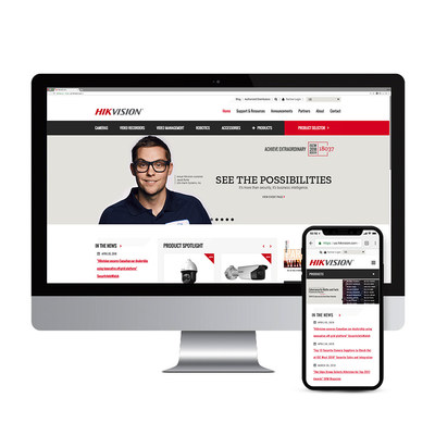 New Hikvision websites are fast, easy to navigate, and optimized for mobile devices