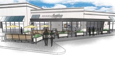 Rendering of Original ChopShop's first Texas restaurant in Las Colinas.