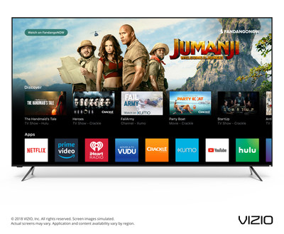 VIZIO Unveils Next Era of Smart TV with Launch of the 2018 SmartCast? OS