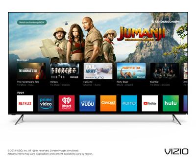 VIZIO Unveils Next Era of Smart TV with Launch of the 2018 SmartCast OS