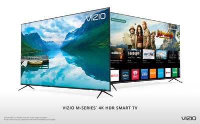 VIZIO Launches All-New 2018 M-Series? 4K HDR Smart TVs Featuring Step-Up Picture Quality and Bezel-Less Design