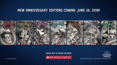 Scholastic Unveils New Covers For J.K. Rowling's Harry Potter Series, In Celebration Of The 20th Anniversary Of Harry Potter and the Sorcerer's Stone In The U.S.