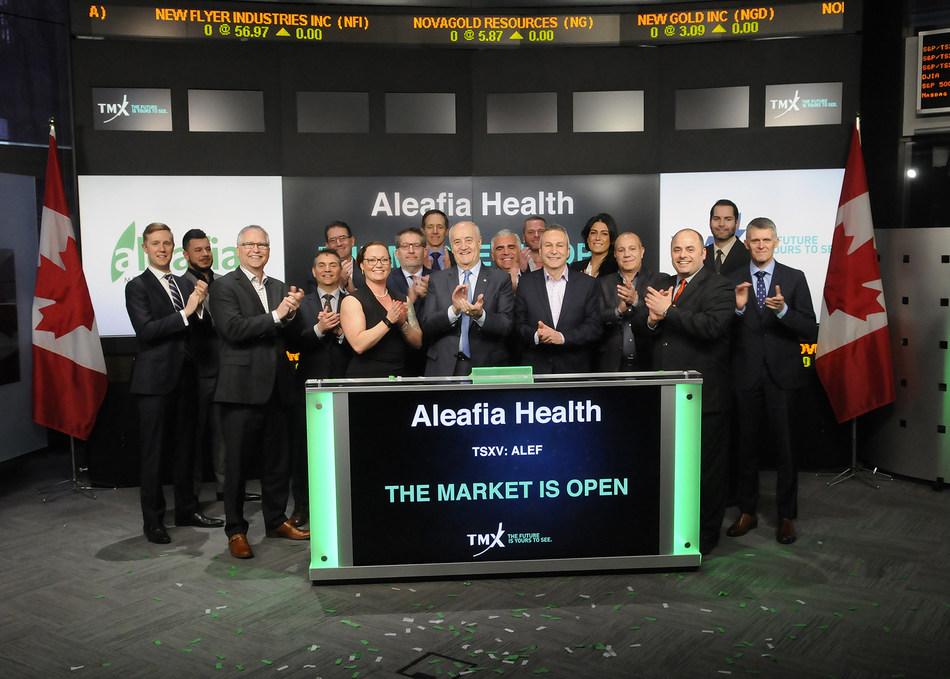 Aleafia Health Inc. Opens the Market (CNW Group/TMX Group Limited)