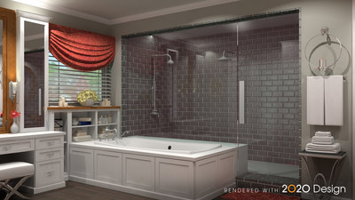 Create beautiful renderings quickly and efficiently with thousands of items from the largest collection of manufacturers' catalogs with 2020 Design kitchen and bathroom space planning software. (CNW Group/2020)