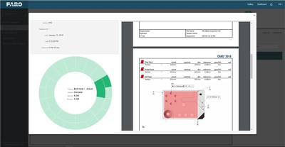 """FARO® CAM2® 2018 conta com o """"Centro de controle de RPM"""" (gestão da repetição de peças) que brinda informações em tempo real de um tablero baseado na web que pode ser utilizado para uma visão de fabricação processável."""