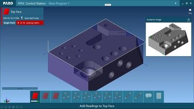 FARO® CAM2® 2018 apresenta a inovadora estação de controle Repeat Part Management (RPM) (gestão de repetição de peças) para facilitar guias e control de a inspeção de peças, que podem ser compartilhados em qualquer lugar da empresa.