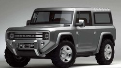 2020 Ford Bronco concept art is similar to previous concepts.
