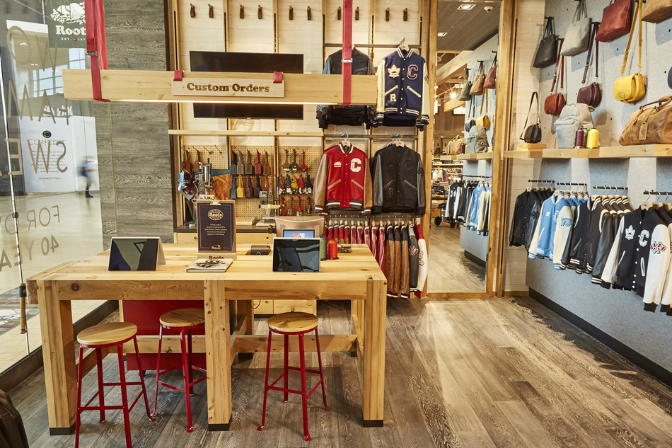 Roots Customization Station at Yorkdale Shopping Centre (CNW Group/Roots Corporation)